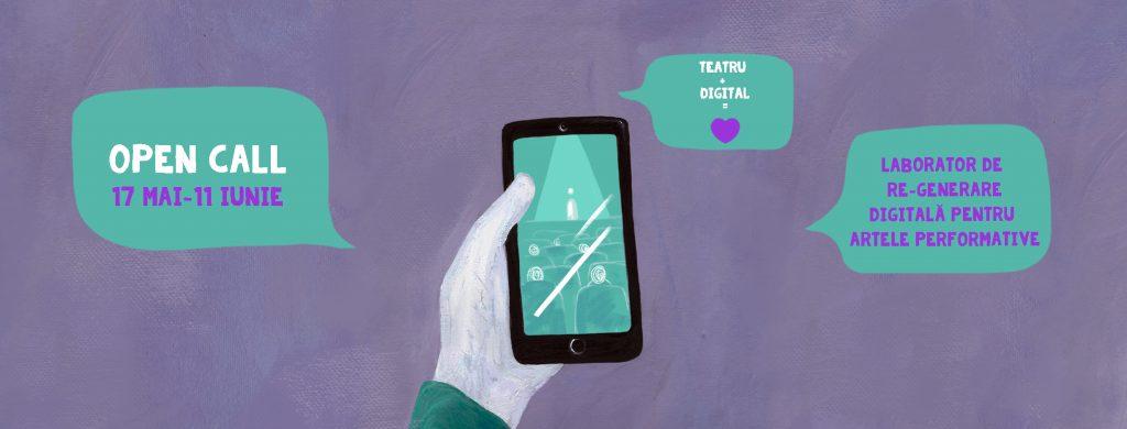 open call laborator re-generare digitala pentru artele performative